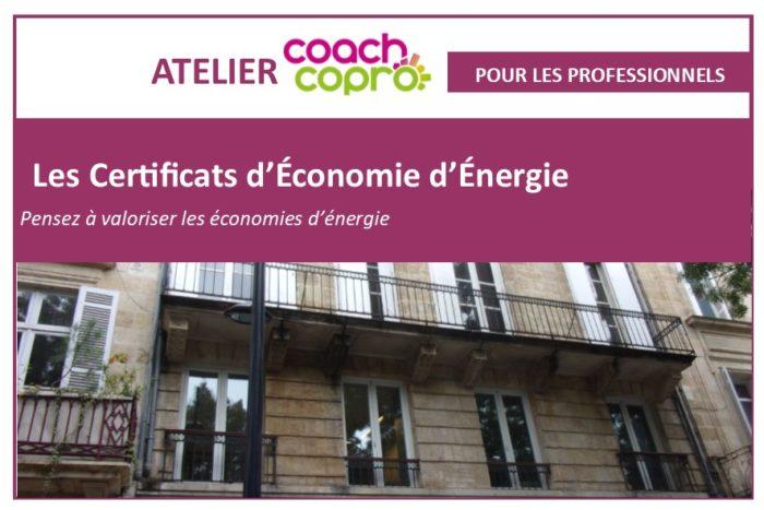 Certificat économies énergie atelier pro