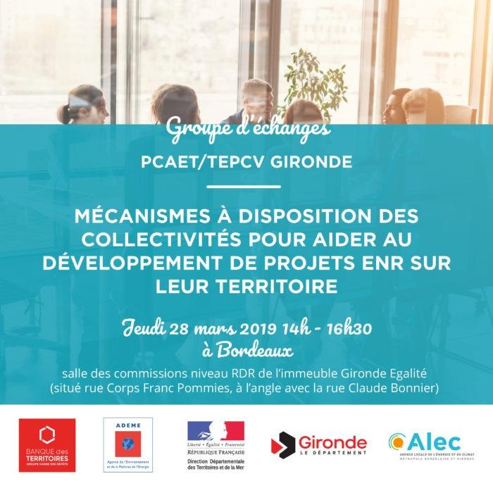 groupe échanges PCAET TEPCV Gironde Alec