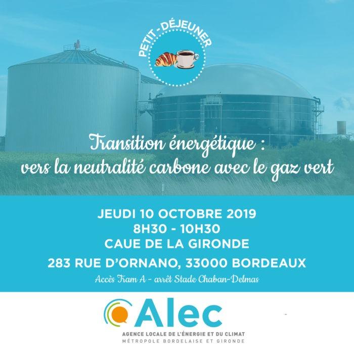 otobre 2019 EC petit déjeuner gaz vert
