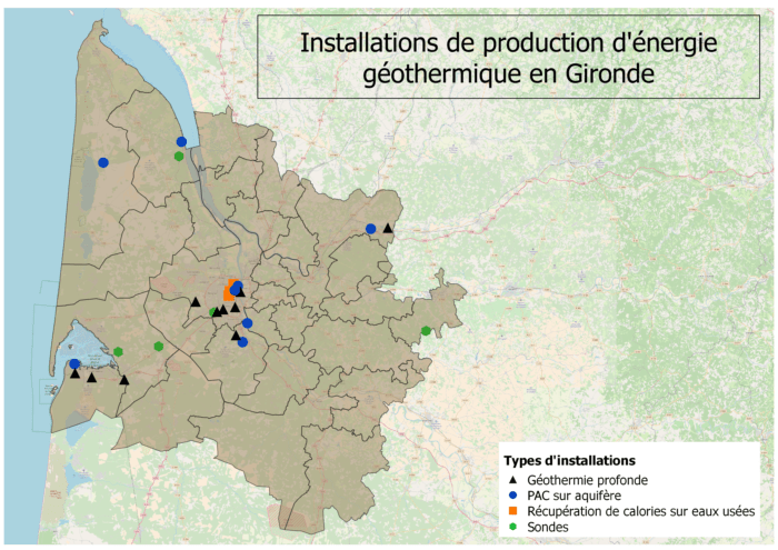 installations de géothermie gironde