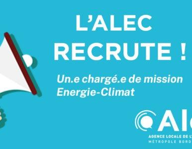 RECRUTEMENT ALEC énergie climat