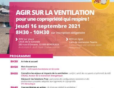 Agir sur la ventilation petit déjeuner ALEC 2021